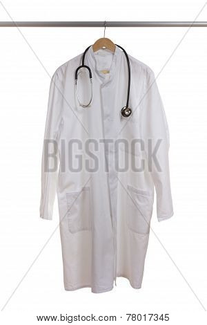 Lab Coat On Wardrobe