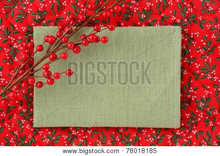 Blank Linen Christmas Sign