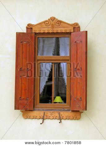 Ventana de casa madera Vintage