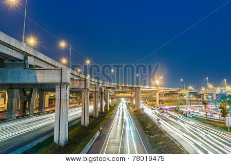 Expressway At Night