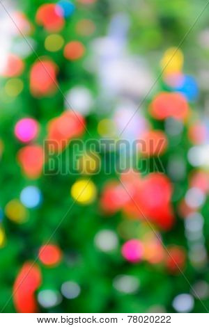 Abstract Christmas Bokeh Background
