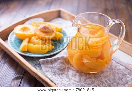 Stewed Summer Fruits In Pitcher