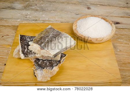 Pieces Of Salt Preserved Fish