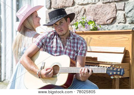 Outdoor Contry Music Couple