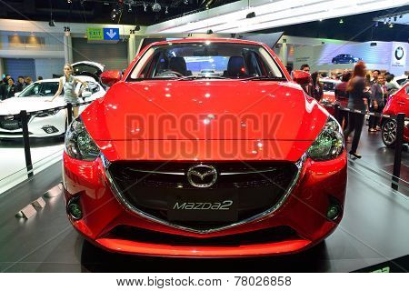 Nonthaburi - December 1: New Mazda 2 Skyactiv Car Display At Thailand International Motor Expo On De