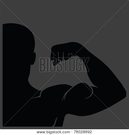 Strong Man Silhouette