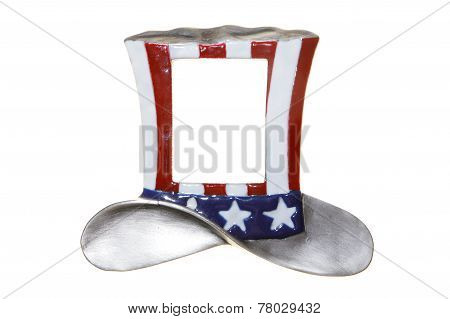 Uncle Sam Hat Cylinder Isolated