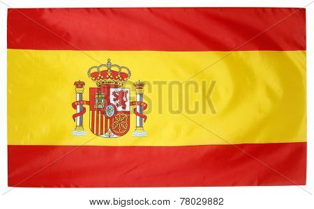Closeup of silky Spanish flag