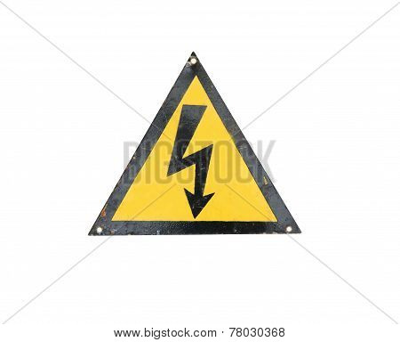 High Voltage Sign Vintage