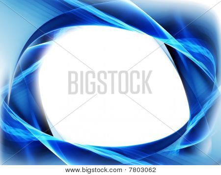 Blue Abstract Frame, Flowing Energy