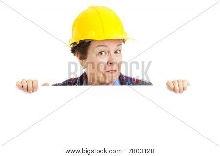 Female Construction Worker - Peekaboo