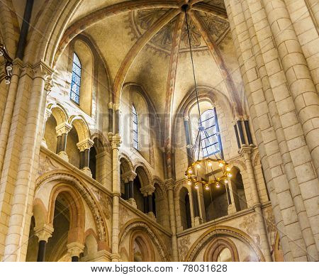 Famous Gothic Dome In Limburg From Inside
