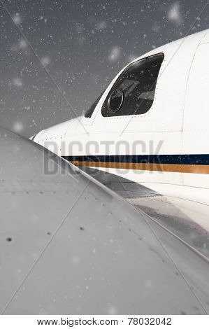 Airplane In The Snowfall