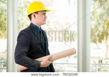 Investor At A Building Site