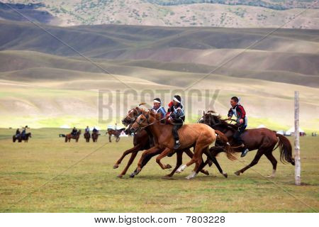 Traditional National Nomad Horse Riding