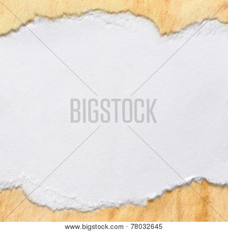 Piece Of White Paper On Aged One