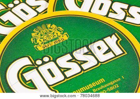 Beermats From Gosser Beer