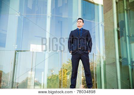 Powerful Businessman At Work