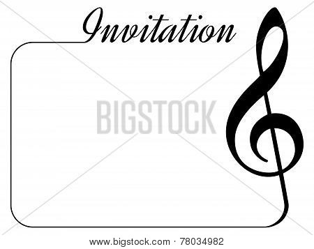 music invitation