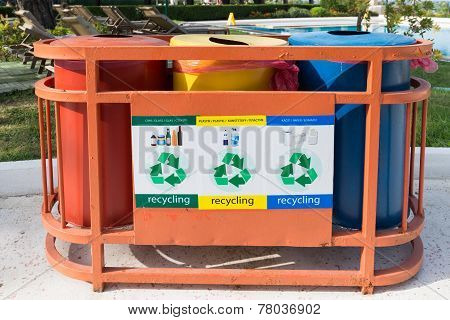 Garbage Containers For Separate Waste Collection