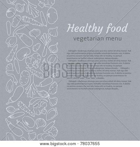healthy food. vegetarian menu.