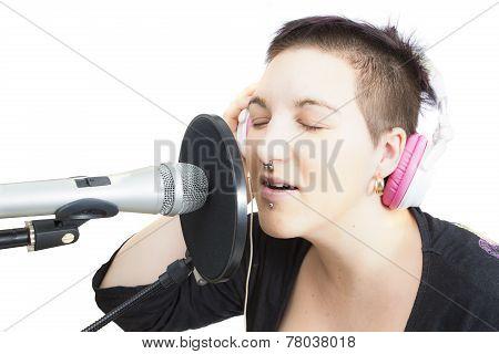 Singer - Isolated Background
