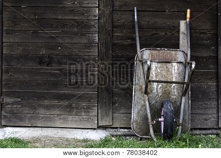 Wheelbarrow At Rest
