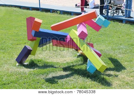 Perm, Russia - Jun 11, 2013: Abstraction Of Color Bar At Festival Town Of White Nights In Perm