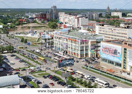 Perm, Russia - June 25, 2014: Second Building Of Shopping Center Iceberg. 47 Shopping Centers Are Th