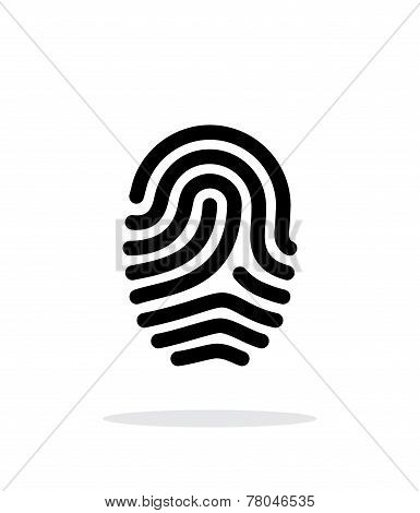 Fingerprint loop type icon on white background.