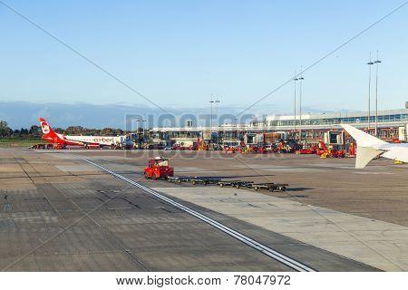 Aircraft In Hamburg At Terminal