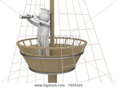 Workers Collection - Sailor On Watching Platform