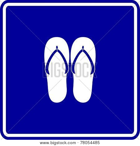 flip flops sandals sign