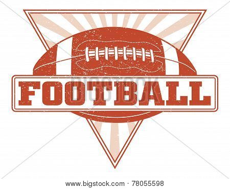 Football Design With Sunburst Triangle