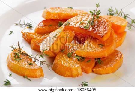 Baked Sweet Potato Wedges With Fresh Herbs