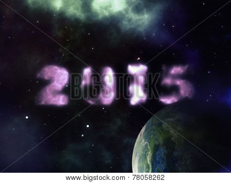 New Year In Outer Space