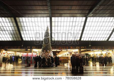Santa Maria Novella Railway Station At Christmas