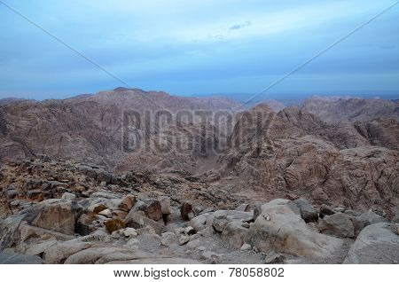 Mountains Sinai In The Morning Mist