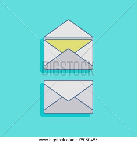 vector illustration with mails in flat style design