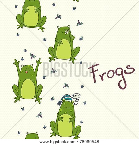 Cartoon Frogs Pattern.