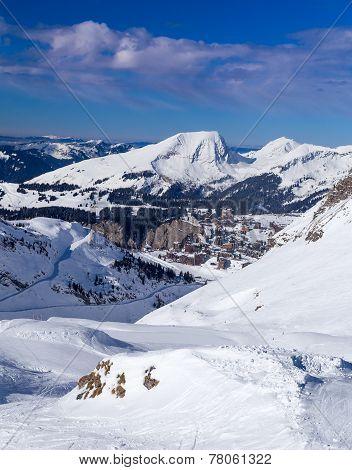 Ski slopes, mountains and Avoriaz