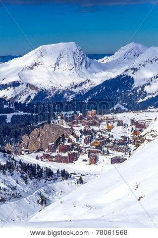 View of the Avoriaz, France