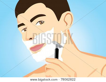 Healthy Men Shaving