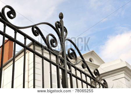 Black Wrought Iron Gate