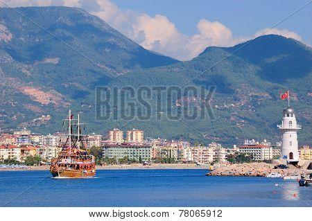 Bay Near The Alanya City. Turkey