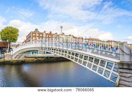 Ha Penny Bridge In Dublin