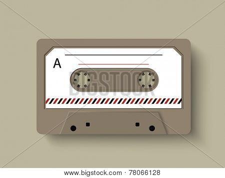 Illustration of a radio cassette.