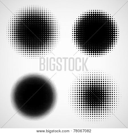 Vector Set of Isolated Halftone Elements