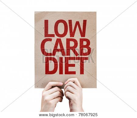 Low Carb Diet card isolated on white background