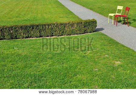 Chairs On A Park